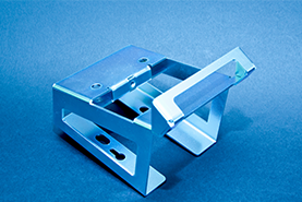 Aluminium verzinkt und Blau passiviert