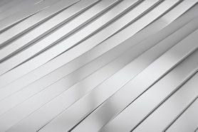 veredeltes Aluminium als Nahaufnahme